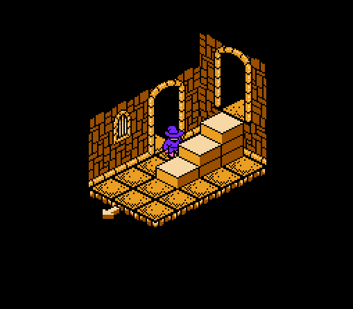 The first room of the game. Which way to go?! Choices, choices!