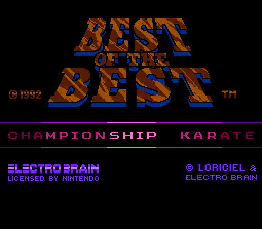 nes_best_of_the_best_championship_karate_title_screen