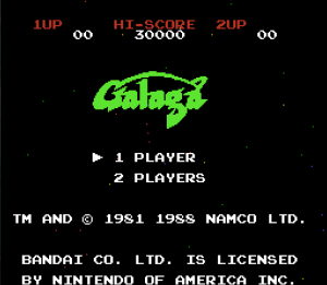 The title is Galaga.